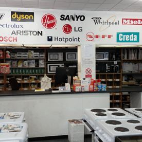 View of the counter of our store